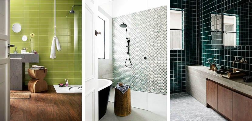 azulejos cuarto de bano cuartos de ba o contempor neos con azulejos verdes