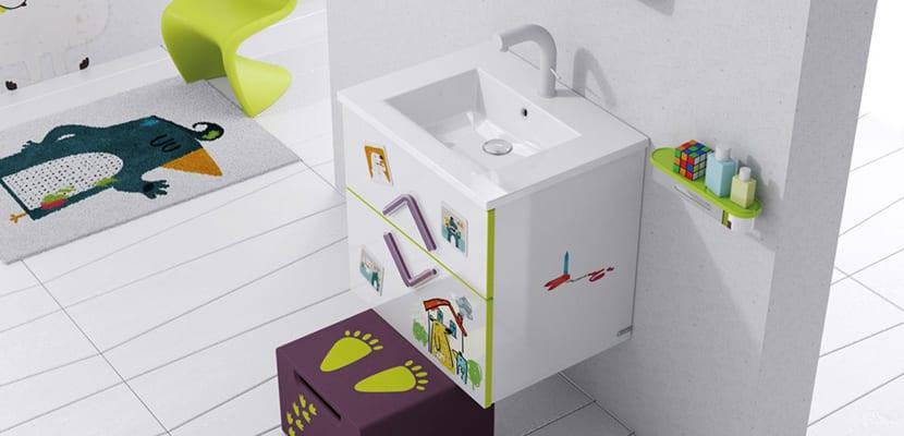 Muebles en el baño infantil