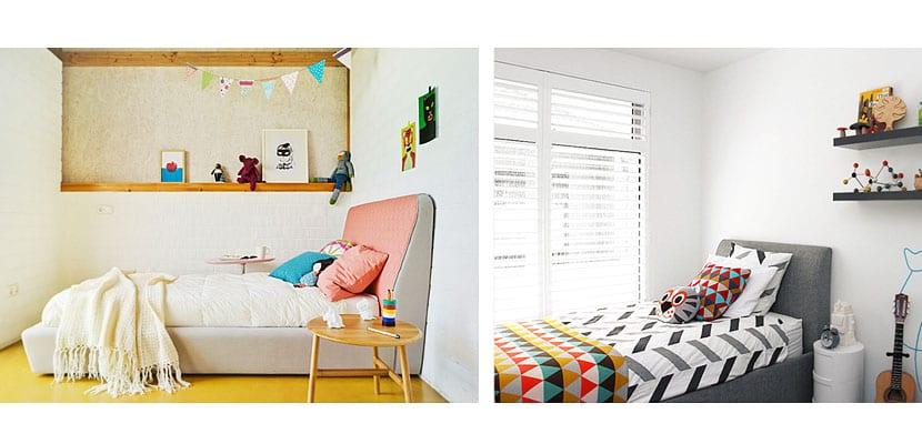 Cabeceros tapizados dormitorio infantil