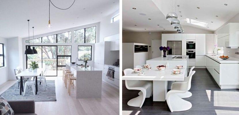C mo crear una cocina abierta en el hogar - Cocinas con isla y comedor ...