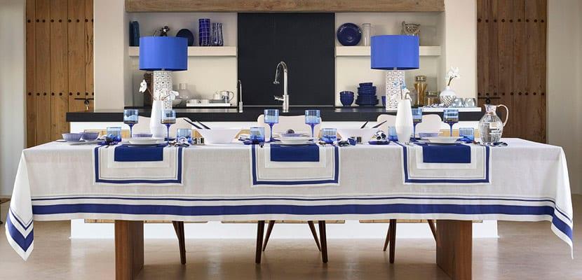 Comedor en azul