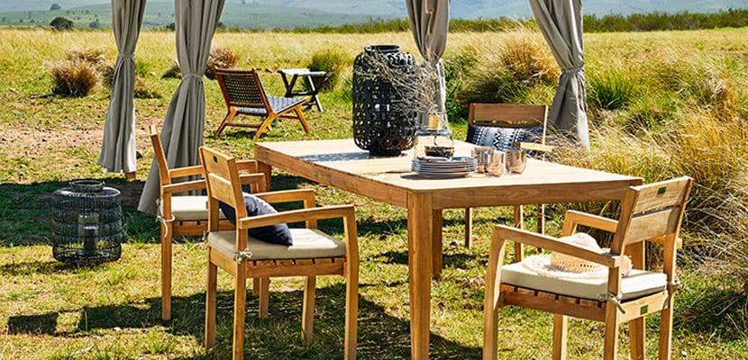 Ideas para crear un comedor exterior en la zona del jardín