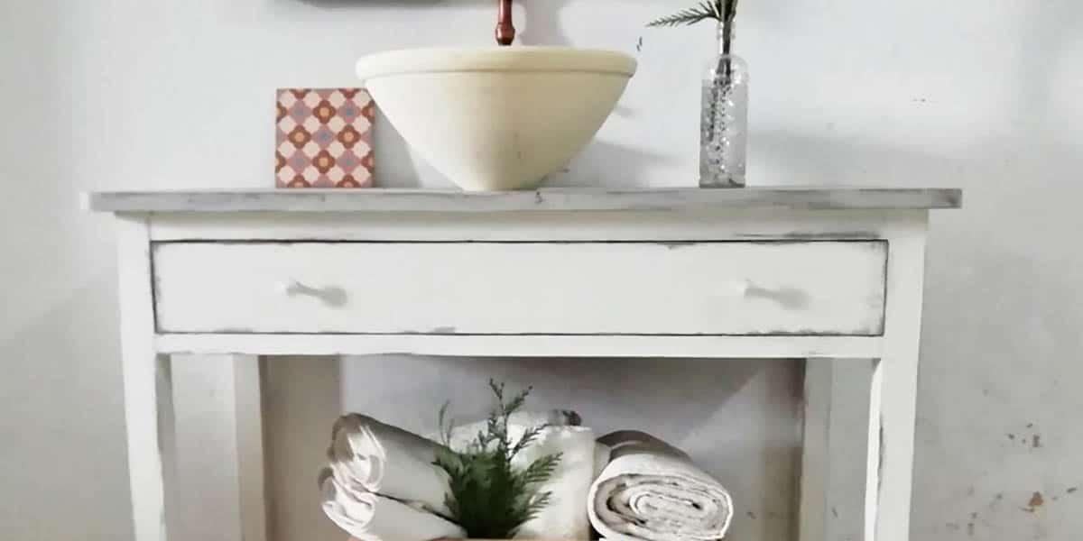 Mesa en lavabo