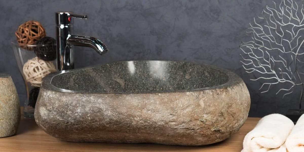 Lavabo rustico de piedra
