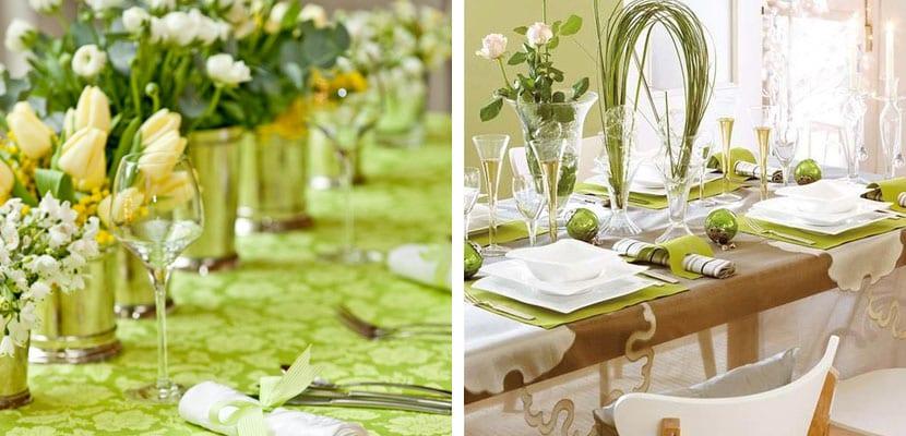 Mesa en verde
