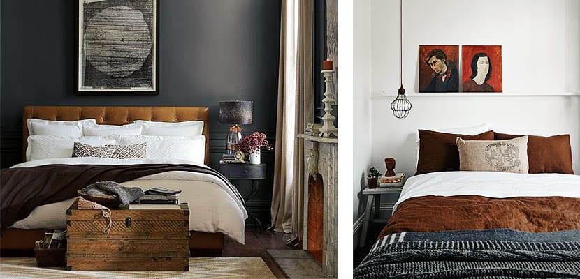 Ropa de cama marr n para vestir el dormitorio - Baules para dormitorios ...