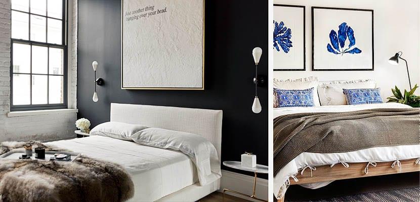 Ropa de cama marrón en el dormitorio
