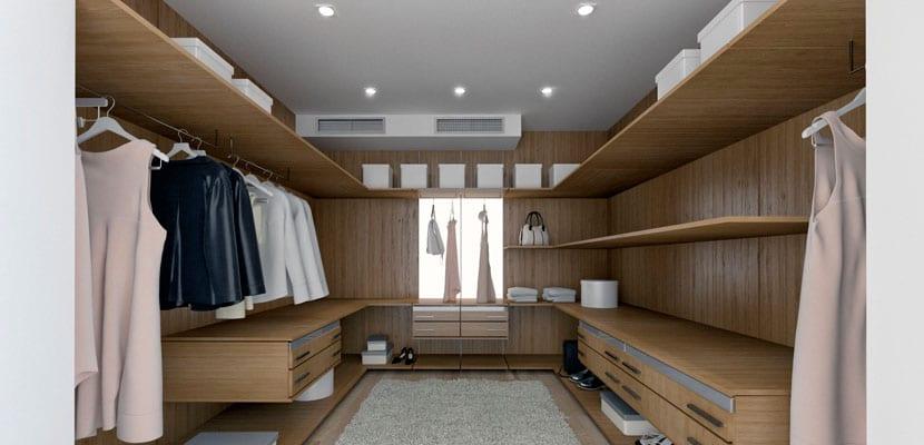 Ideas para iluminar la zona del vestidor