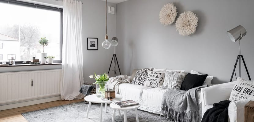 Apartamento decorado en estilo n rdico y tonos b sicos for Decoracion salon estilo nordico