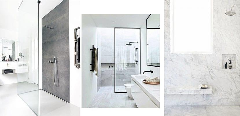 Duchas de baños modernos