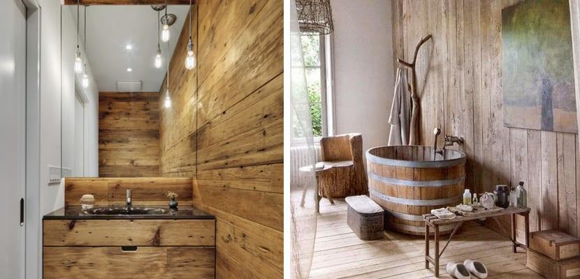 095c2607e94a Cómo crear baños rústicos, ideas decorativas
