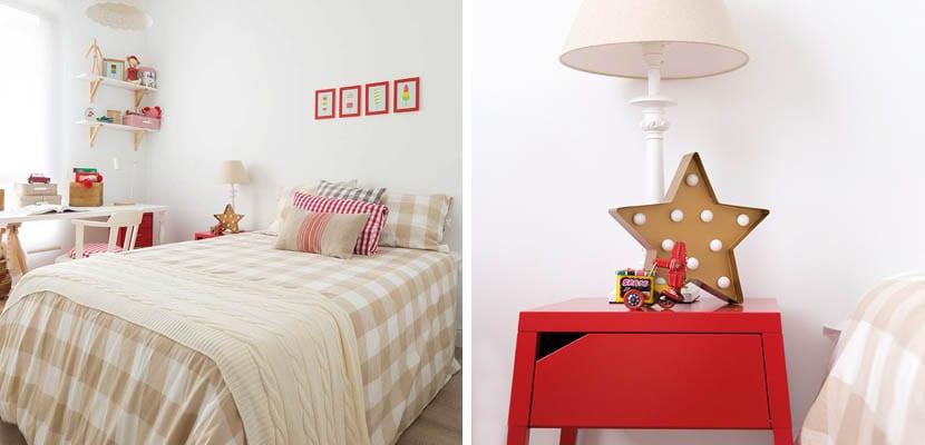 Dormitorio en rojo