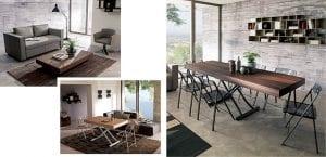 Mesa de café convertible