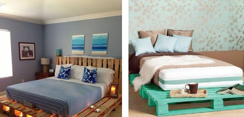 Ideas para crear muebles con palets - Hacer cama con palets ...