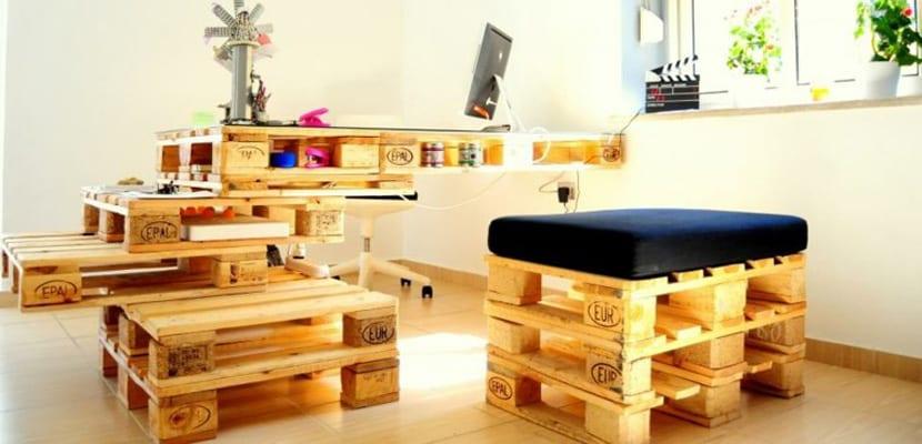 Ideas para crear muebles con palets for Muebles elaborados con palets