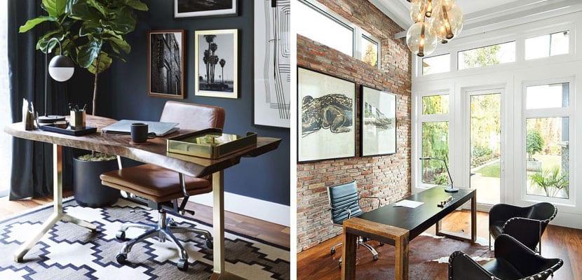 Decorar una oficina en estilo masculino for Como disenar una oficina moderna