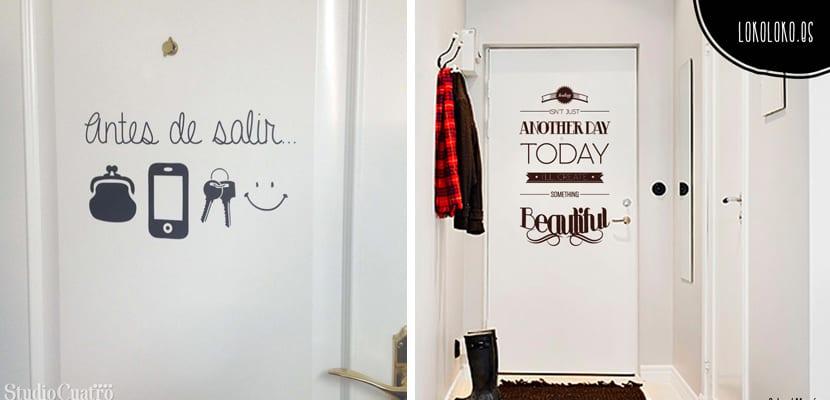 Ideas en vinilos decorativos para el hogar - Vinilos decorativos puertas ...
