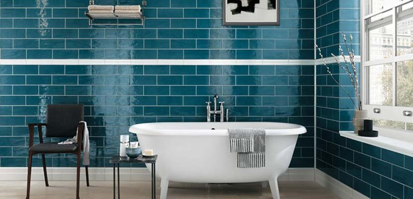 Azulejos de baño coloridos