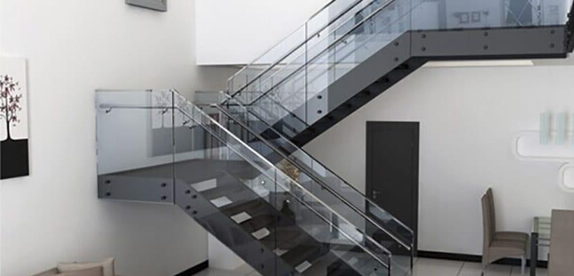 Ideas para elegir las barandillas de escalera - Barandilla cristal escalera ...