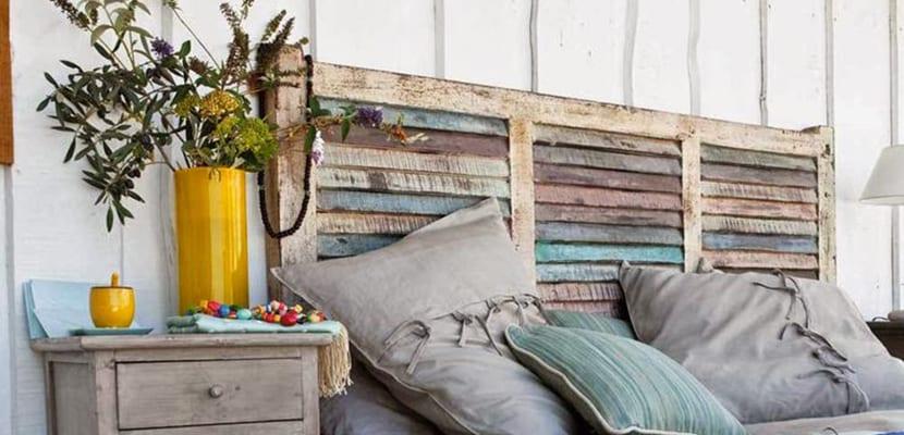 Ideas para decorar la cama con cabeceros de madera - Hacer cabecero de madera ...