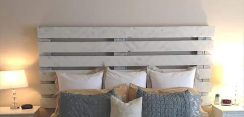 Ideas para decorar la cama con cabeceros de madera - Cabeceros de cama con palets ...