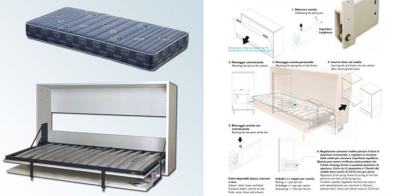 Camas plegables o abatibles para optimizar peque os espacios - Camas supletorias plegables ...