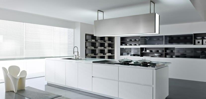 Ideas para las cocinas modernas blancas - Lamparas para cocinas modernas ...