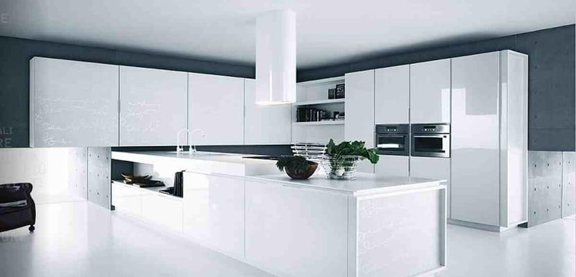 Ideas para las cocinas modernas blancas - Cocinas con estilo moderno ...