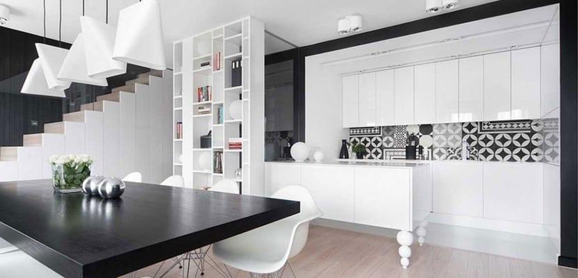 Ideas para las cocinas modernas blancas for Suspension de cocina moderna