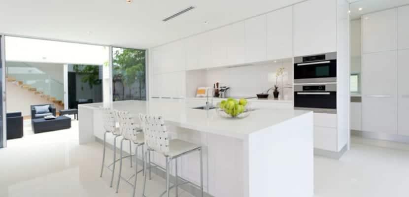 Ideas para las cocinas modernas blancas for Ideas cocinas modernas