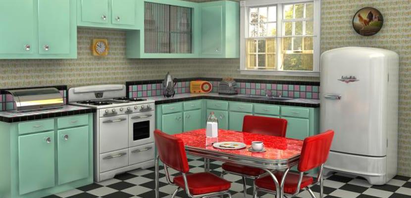 C mo decorar las cocinas vintage for Muebles de cocina anos 80