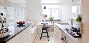 Cocinas pequeñas blancas