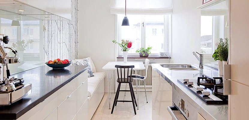 C mo decorar las cocinas peque as alargadas for Cocinas modernas pequenas alargadas