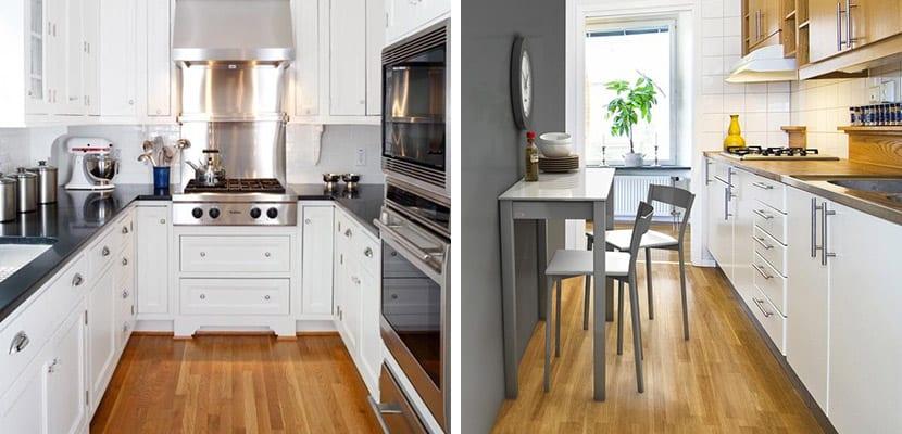 Cocinas con suelo de madera