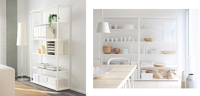 Estanterías modulares Fjalkinge de Ikea