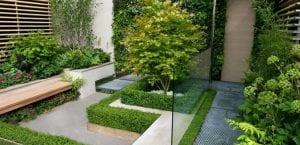 Jardín moderno