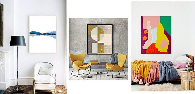 Láminas para cuadros abstractas