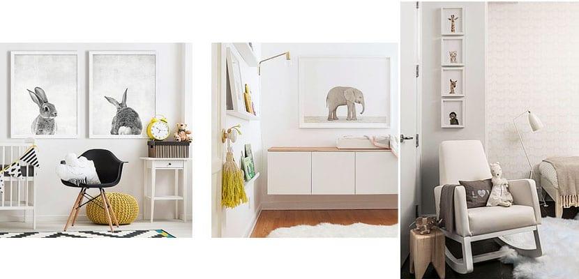 Láminas de animales para dormitorios infantiles