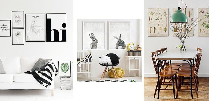 L minas para cuadros sencillas y econ micas para decorar for Laminas salon decoracion