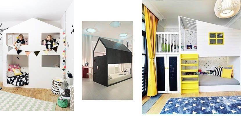 Literos con forma de casa