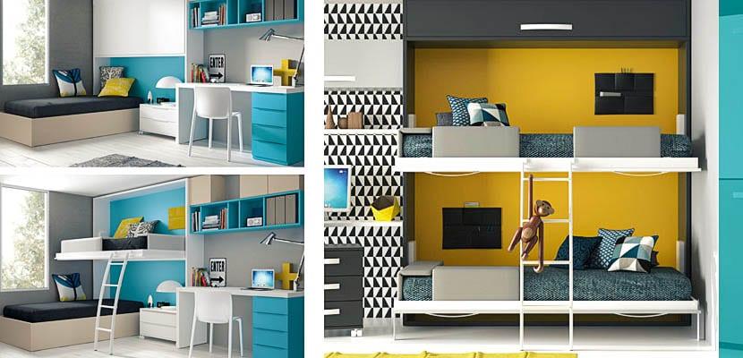 Camas abatibles juveniles para espacios reducidos cama - Camas dobles infantiles para espacios reducidos ...