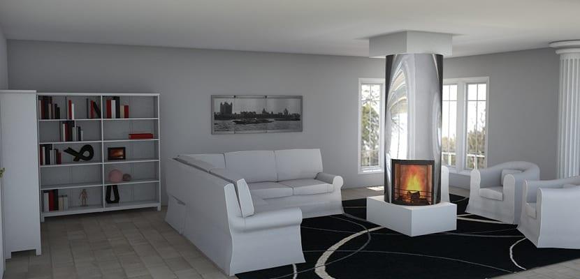 Salones con chimenea ideas y estilos - Chimeneas para salon ...