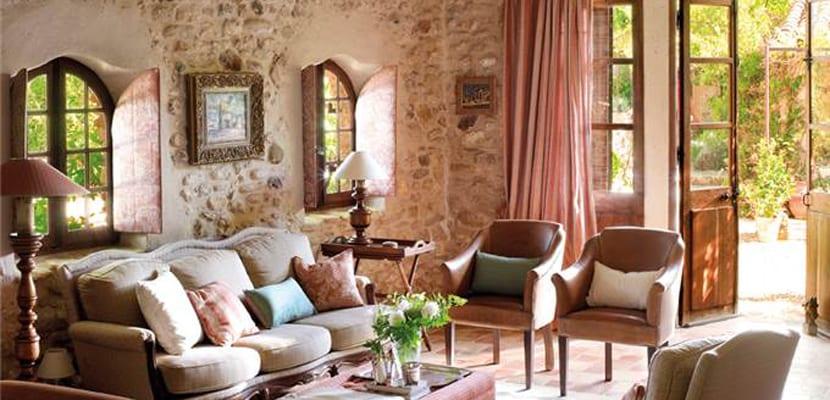 Salón con piedra