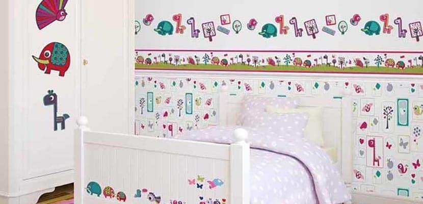 Cómo decorar el cuarto de los niños con cenefas infantiles