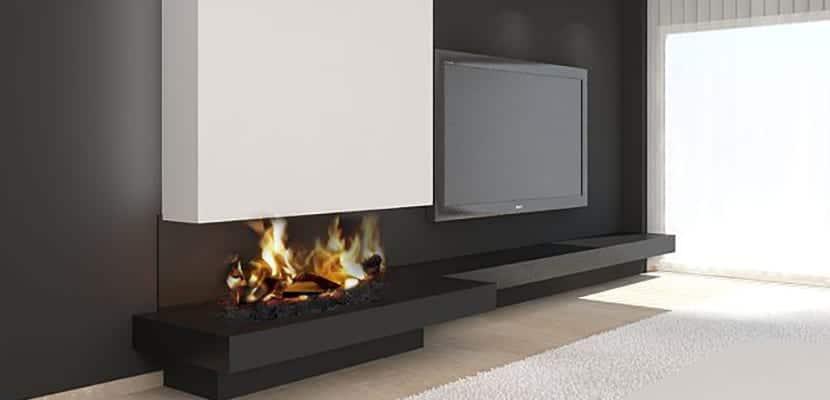 Decorar el hogar con chimeneas modernas for Chimeneas decoracion hogar