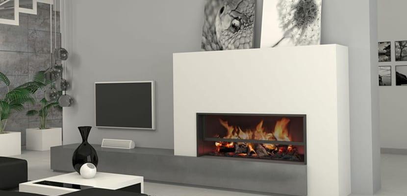 Decorar el hogar con chimeneas modernas - Decoracion de chimeneas en salones ...