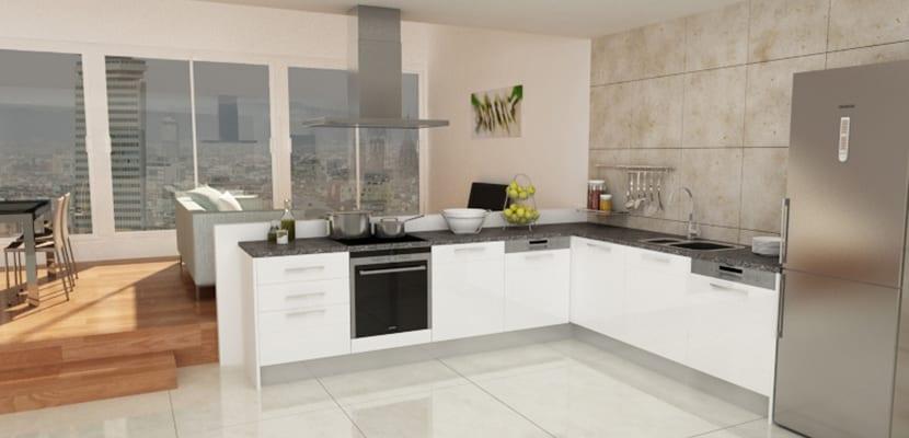 Dise o de las cocinas en l ideas pr cticas for Disenos de cocinas en l
