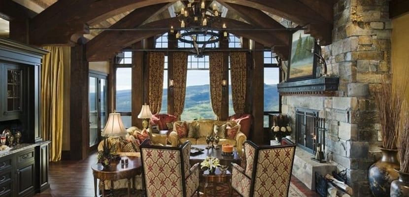 Decorar el hogar con acogedoras chimeneas r sticas - Cosas rusticas para decorar casa ...