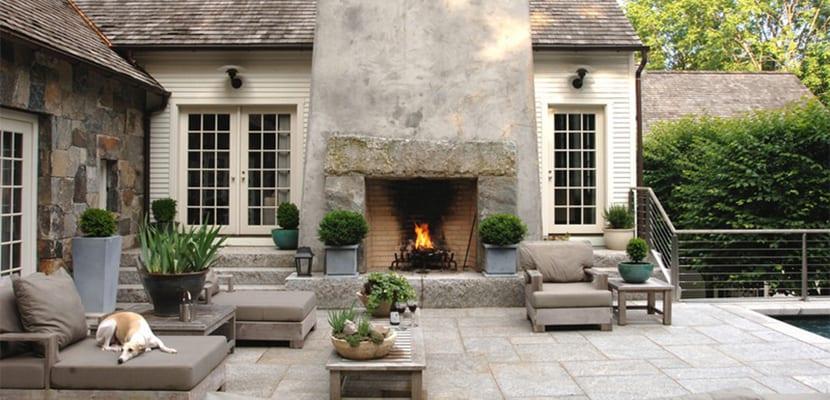 Decorar el hogar con acogedoras chimeneas r sticas - Chimenea de exterior ...