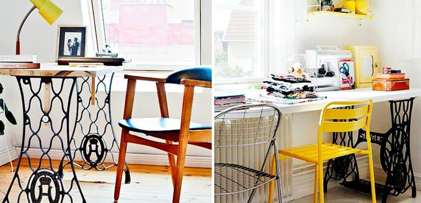 Oficina con máquina de coser